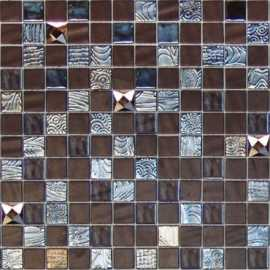 Мозаика MYSTIC GLASS AGATA DIAMOND BROWN MALLA 31.1x31.1 от Onix Mosaico (Испания)